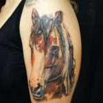 Tattoo tattoos austin best artist texas awesome badass cute wicked dark evil men women guys girls cool realism realistic color black and grey traditional art male female men's women's awesome horse