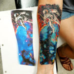 Tattoo tattoos austin best artist texas awesome badass cute wicked dark evil men women guys girls cool realism realistic color black and grey traditional art male female men's women's awesome space astronaut