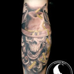 Tattoo tattoos austin best artist texas awesome badass cute wicked dark evil men women guys girls cool realism realistic color black and grey traditional art male female men's women's awesome cowboy skull