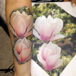 Tattoo tattoos austin best artist texas awesome badass cute wicked dark evil men women guys girls cool realism realistic color black and grey traditional art male female men's women's awesome magnolia flower bee