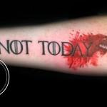 Not Today tattoo stark