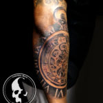 Tattoo tattoos austin best artist texas awesome badass cute wicked dark evil men women guys girls cool realism realistic color black and grey traditional art male female men's women's awesome gears clock