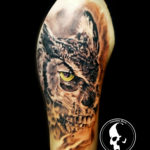 Tattoo tattoos austin best artist texas awesome badass cute wicked dark evil men women guys girls cool realism realistic color black and grey traditional art male female men's women's awesome owl skull